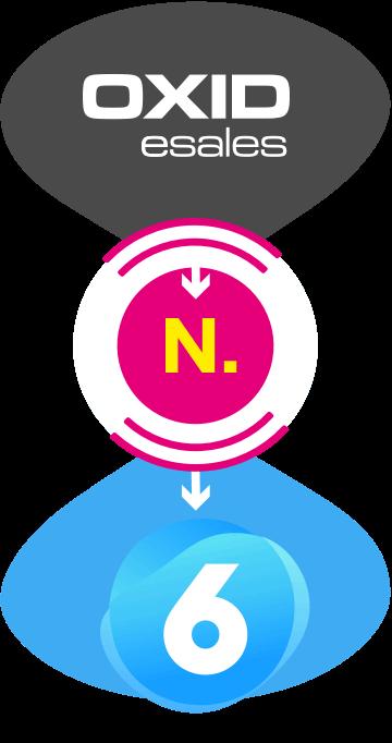 Darstellung Migration von Oxid zu Shopware 6